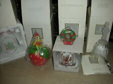 Avon Fine Collectibles Porcelain Crystal Bell Set Of 4