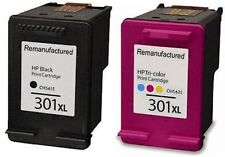 Refilled HP 301XL Black And Colour Ink Cartridges For HP Envy 5532 e All In One