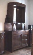 antica vetrina credenza legno massello liberty