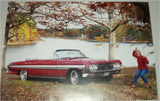 1961 Oldsmobile Starfire Convertible car print (red, no top)
