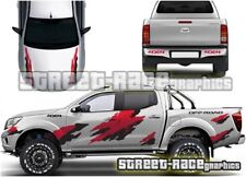 027 rally raid Fits Nissan Navara motorsport decals grunge graphics stickers