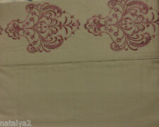 J. Queen NY GRAMERCY Queen SHEET 4PC Set 300TC Embroidered Burgundy & Bronze