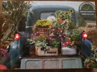 Beautiful LED Lighted Canvas Old Pickup Truck w/ Flowers 6 Hour Timer Great Gift