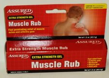 1 Assured Extra Strength Gel Muscle Rub Fast Penetrating Relief Of Muscle Aches