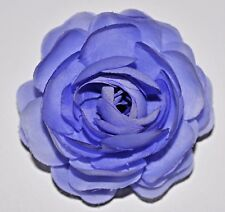 "3"" Purple Lavender Ranunculus Silk Flower Hair Clip Wedding Bridesmaid Prom"