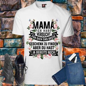 Beste Geschenk Mama Muttertag Print Tshirt T- Shirt Damen