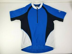Fox Mens Short Sleeve Blue 1/2 Zip Cycling Jersey Size Large