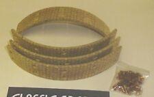 AUSTIN MORRIS 1800 LANDCRAB 1964 - 1975  NEW REAR BRAKE LININGS + RIVETS (E119)