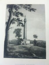 1882 STEEL ENGRAVING WASHINGTON MONUMENT - PICTORAL HISTORY SELMAR HESS
