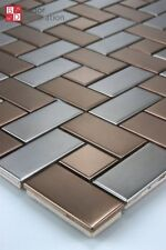 mosaïque Metalique inox métal de l'acier inoxydable Bronze Argent