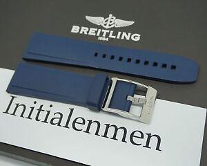 Breitling RUBBER PRO DIVER 2 blue 139S 24/20 strap band 100% ORIGINAL & NEW