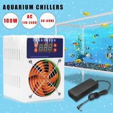 100W Fish Tank Shrimp Aquarium Mini Water Chiller Cooling Fan Cooler Machine