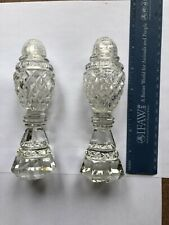 Vintage cut glass crystal salt and pepper shakers