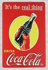 It's the real thing drink Coca-cola tin metal sign garage sign ideas