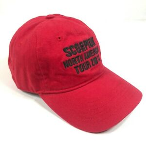 Scorpion North American Tour 2018 Hat Cap Adjustable Red Rock N Roll Band Music
