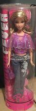 Fashion Fever Barbie Purple Glitter Top Chain Belt Jeans w/ Floral Hip Imprint