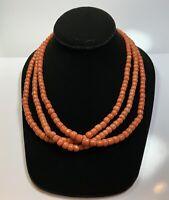 Vintage 14k Gold Coral Strand Necklace
