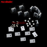 10x Aluminum Heatsink Sink with Screw Sets for TO-220 Transistor 20x15x10mm