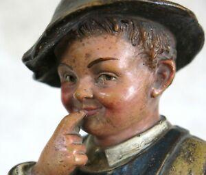 GARÇON TERRE CUITE, petit pêcheur, ramoneur, vieux métier, Le Guluche ? Hanne ?