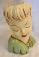 Vintage Glamour Lady Head Vase Planter