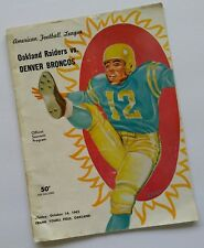 1962 Oakland Raiders Home Game Program - 10/14/62...Player Signed/Autographed!!!