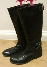 Ladies Black Leather Biker Boots By Paul Smith Men Only range Sz 39 UK6 VGC