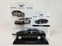 1:64 Kyosho Bentley Minicar Collection Mulsanne Series 2 6.75 V8 2011-2017 Black