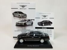 1:64 Kyosho Bentley Minicar Collection Mulsanne Series 2 6.75 V8 2011-2017 Black