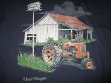 Vintage Wild 2 Label - TRACTOR and FARM BARN - WEST VIRGINIA (LG) T-Shirt
