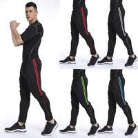 Men Sport Pants Long Trousers Tracksuit Fitness Workout Joggers Gym Sweatpants L