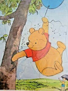 Whitman Disney Winnie the Pooh Frame Tray Puzzle Cardboard 1964 Sealed NOS USA