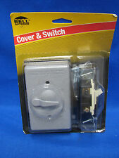 BELL Cover & Switch 5141-5 3 Way 1 Gang Switch Lever Gray Weatherproof