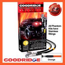 Audi Coupe 2.2 GT 07/81-10/87 SSteel Orange Goodridge Brake Hoses SAU0898-6C-OR