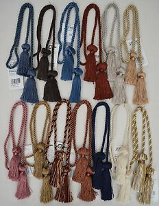 """Curtain & Chair Tie Back -27""""spread with 3"""" double tassel - 25 colors!!!"""