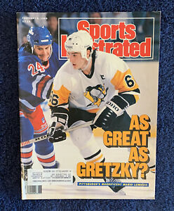 2.6.89 MARIO LEMIEUX Sports Illustrated - Pittsburgh Penguins - Great As Gretzky
