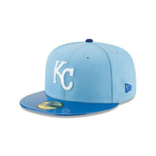 """Kansas City Royals MLB Authentic New Era """"Solid Shine"""" 59FIFTY Fitted Hat-Blue"""