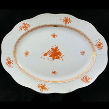 """Chinese Bouquet Herend Rust 515 Bread & Butter 6"""" Never Hungary"""