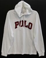 Polo Ralph Lauren Mens White Stitched Letterman Hoodie L/S T-Shirt NWT Size S