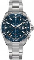 CAY211B.BA0927 New Tag Heuer Aquaracer Blue Dial Chronograph 43mm Men's Watch