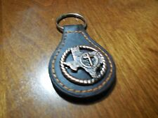 STATE OF TEXAS LEATHER METAL KEY FOB CHAIN WESTERN BRONZE