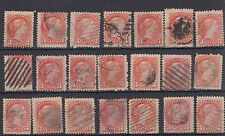 Small Queen lot x 21 three cent stamps great colour new find from Europe Canada
