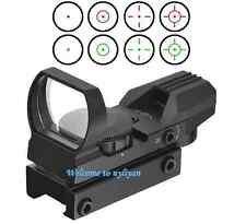 US 1x22x33 Reticle 5MOA Red/Green Dot Holographic Scope Sight For Rifle Gun