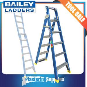 Bailey Dual Purpose Fibreglass Ladder 6 Step 1.8m | 3.2m 150kg FS13668