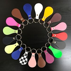 47 Colours of Handmade Real Leather Pear Drop Amazing Unique KEY FOBS KEYRINGS