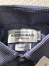 Nwt Mizzen + Main America Beckett Spinnaker Sport Shirt Navy White Check Xl Trim