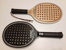 Lot of (2) Sportcraft Wooden Platform Tennis Paddle Racquet ARDSLEY & GREENWICH