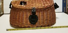 Vtg Looking Fly Fishing Creel Wicker Basket for your Trout or for Display 16 X 6