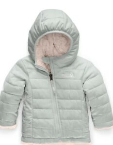 NEW! The North Face Infant Reversible Mossbud Swirl Jacket Pink Grey 3-6 Months