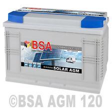 Solarbatterie 120AH 12V AGM GEL USV Batterie Wohnmobil Boot Solar Batterie 100Ah