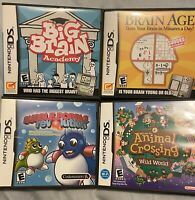 Nintendo DS Used Games Lot Of 4 *Animal Crossing, Bubble Bobble + 2 *TESTED*